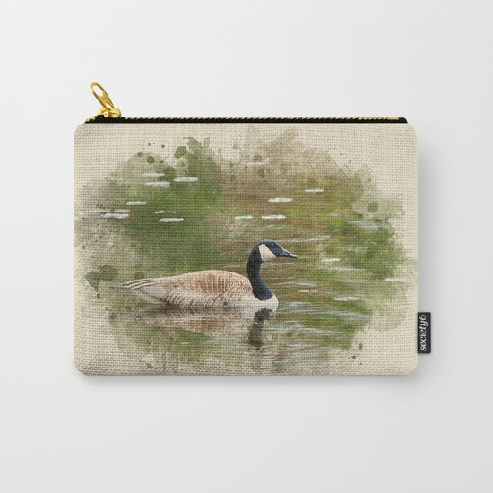 Watercolor Goose Art Carry-All Pouch