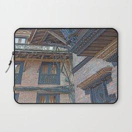 BHAKTAPUR NEPAL BRICKS WINDOWS WIRES Laptop Sleeve