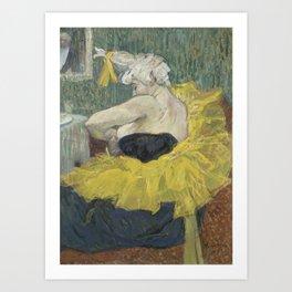 "Henri de Toulouse-Lautrec ""The Clown Cha-U-Kao"" Art Print"
