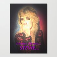 stevie nicks Canvas Prints featuring Stevie Nicks- Intense Silence by Anne Merritt