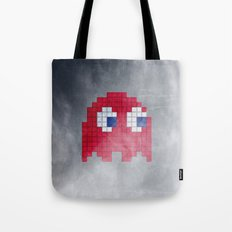 Pac-Man Red Ghost Tote Bag