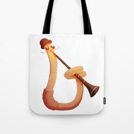 Earthworm with skills Tote Bag