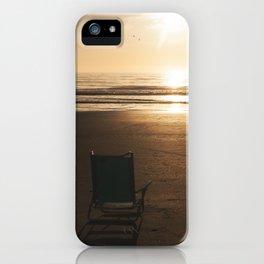 Beach Chair at Sunrise iPhone Case
