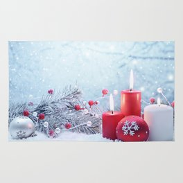 Snow Candles Rug