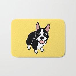 Happy Boston Terrier Bath Mat