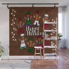 Holiday Gingerbread Friends Wall Mural