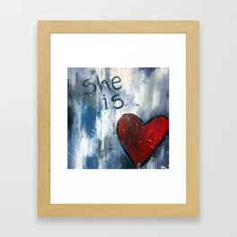 She is Love Framed Art Print