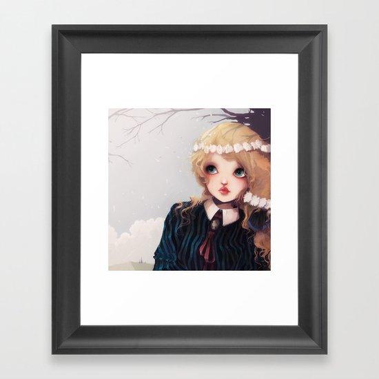 Quelque part... Framed Art Print