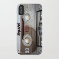 punk rock iPhone & iPod Cases featuring PUNK ROCK by The Family Art Project