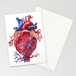 Watercolor heart Stationery Cards