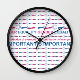 Gender Equality_04 by Victoria Deregus Wall Clock