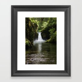 punchbowl falls. Framed Art Print