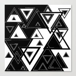 Triangle black and white Canvas Print