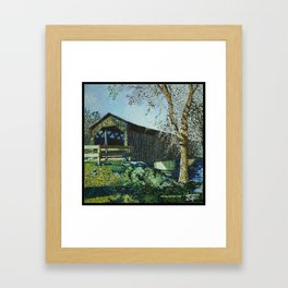 Cedarburg Covered Bridg Framed Art Print