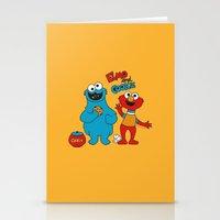 elmo Stationery Cards featuring Elmo & Cookie Fan Art by gabriela