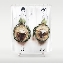 Edible Ensembles: Artichoke Shower Curtain