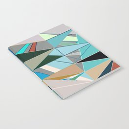 Mid-Century Modern Abstract, Turquoise and Neutrals Notebook