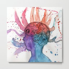 This Is Your Brain On Inspiration Metal Print