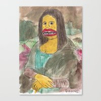mona lisa Canvas Prints featuring Mona Lisa by GOONS