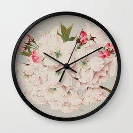 Vintage Japanese Watercolor - Mikuruma Gaeshi Wall Clock