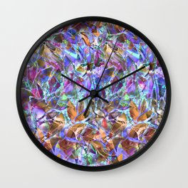 Floral Abstract Stained Glass G268 Wall Clock