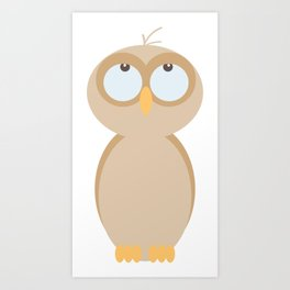 Owlie Little Owl Hatchling Art Print