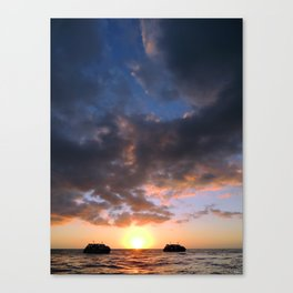 Drifting Couple - Sky Canvas Print