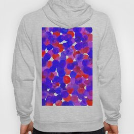 Watercolor Circles - Blue Red & Purple Palette Hoody