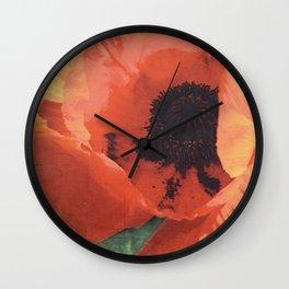 Day-Glo Orange Wall Clock