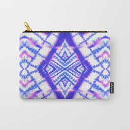 Dye Diamond Iridescent Blue Carry-All Pouch