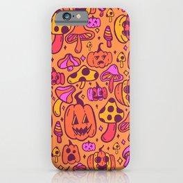 Mushrooms and Pumpkins iPhone Case