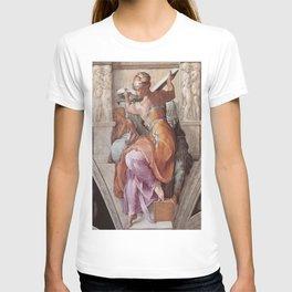 The Libyan Sybil Sistine Chapel Ceiling by Michelangelo T-shirt