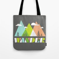 wander Tote Bags featuring Wander  by Jenny Tiffany