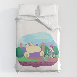 Teeny Tiny Worlds - Route 12 Duvet Cover