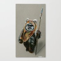 ewok Canvas Prints featuring Ewok by Sam Luotonen