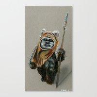 ewok Canvas Prints featuring Ewok by Sam Luotonen