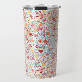 Indian summer leaves - handpainted watercolor pattern Travel Mug