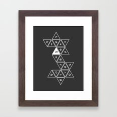 Unrolled D20 Framed Art Print