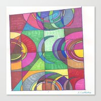 stained glass Canvas Prints featuring Stained Glass by SaraLaMotheArt