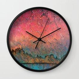 Aurora over cradle Wall Clock