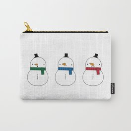 We Three Snowmen Carry-All Pouch