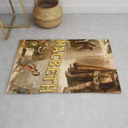 Vintage Macbeth Theatre Poster Rug