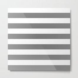 Horizontal stripes / gray Metal Print