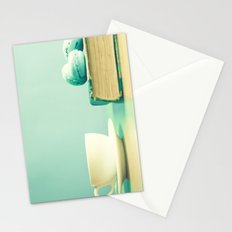 Mint reading and relaxing Stationery Cards