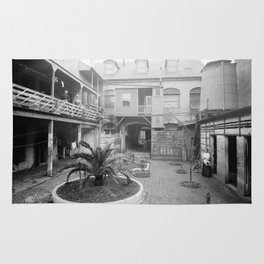 Old French courtyard, New Orleans Rug