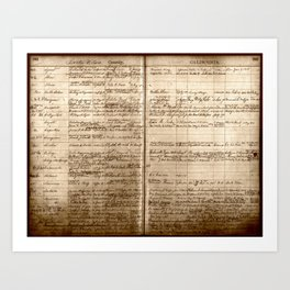 Post Office Postmaster Appointments Antique Paper Art Print