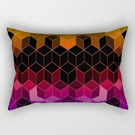 Rainbow Cubes Rectangular Pillow