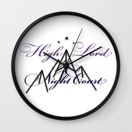 HIGH LORD OF THE NIGHT COURT inspired Wall Clock