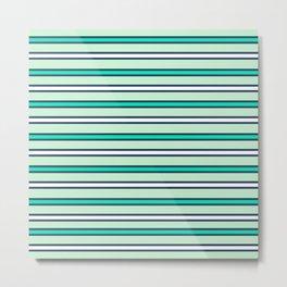 Mint stripes Metal Print