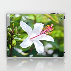 White Hibiscus Laptop & iPad Skin